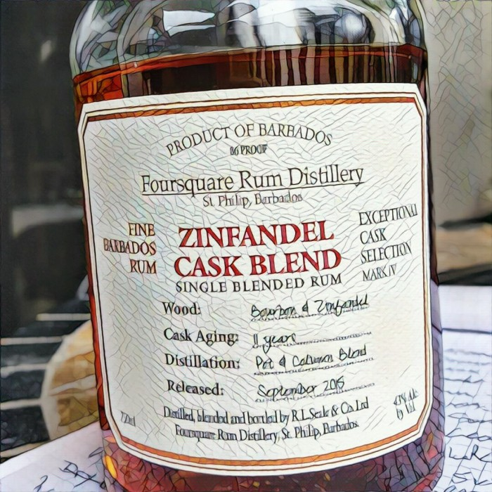Rum Review: Foursquare Zinfandel Cask Blend